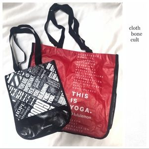 2 LULULEMON Snap-Closure TOTE BAGS (large&small)
